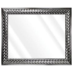 Unbranded Large Rectangle Shiny Silver Beveled Glass Art Deco Mirror (42 in. H x 30 in. W)-16775-36-58S - The Home Depot Contemporary Wall Mirrors, Art Deco Mirror, Beveled Glass, Oversized Mirror, Glass Art, Ivory, Elegant, Frame, Silver