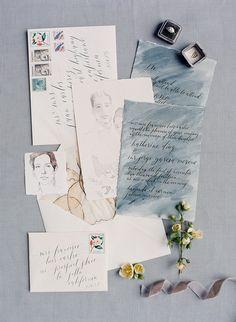 something blue invitations | image via: once wed