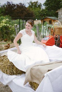 Photographe mariage wedding voiture tracteur mariage idée voiture mariage