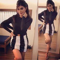 Jacqueline in Black Jacqueline Fernandez, Indian Bollywood, Bollywood Fashion, Beautiful Indian Actress, Beautiful Actresses, Bollywood Celebrities, Bollywood Actress, Fashion Outfits, Womens Fashion