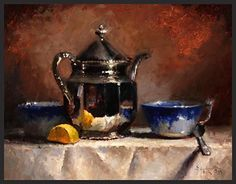 Tea For Two by Kathy Tate Oil ~ 11 x 14