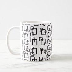 Square Pattern | Mug - holidays diy custom design cyo holiday family