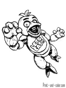 Five Nights At Freddys Fnaf Coloring Pages Monster Printable