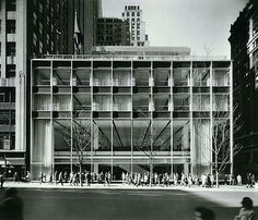 The Manufacturers Trus building by American architect Gordon Bunshaft/SOM. Great transparency and clean look.