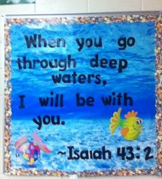 Image result for sunday school bulletin boards sea theme