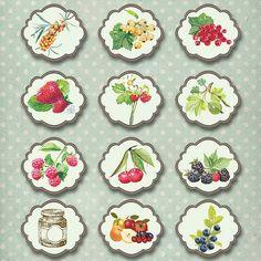 Reçel ve korunması için Etiketler. Kayd konuşun - Rus Servisi Çevrimiçi Diaries Jam Jar Labels, Canning Labels, Food Labels, Printable Frames, Printable Labels, Printables, Jar Design, Decoupage Paper, Fruit Art