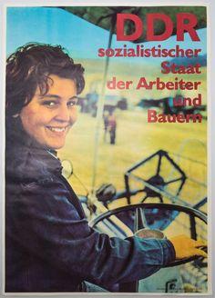 """DDR Museum - Museum: Objektdatenbank - """"Plakat Arbeiter und Bauern"""" Copyright: DDR Museum, Berlin. Eine kommerzielle Nutzung des Bildes ist nicht erlaubt, but feel free to repin it!"""