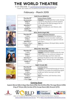 World Theatre Charters Towers: Cinema schedules + special events posters World Theatre, Who Book, Movie Tickets, Documentary Film, Upcoming Events, Towers, Live Music, Books Online, Special Events