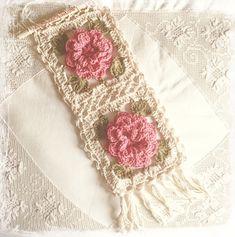 Crochet wall hanging .