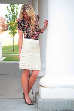Such a cute skirt! Maybe I can get my mom to help me sew this over break:)