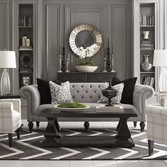 Fifty Shades of Gray in Classical Interiors