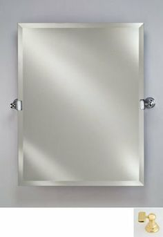 Afina Corporation RM636BR 24X36 Rectangular Frameless Mirror with Tilt Brackets - Polished Brass by Afina Corporation. $364.00. Mounting brackets will add 4.5 to the overall mirror width.. Decorative tilt mounting brackets available in polished brass, polished chrome, polished. Rectangular frameless wall mirror.. 1 Bevel mirror.. Radiance Tilt collection.. Radiance Tilt collection. Rectangular frameless wall mirror. Decorative tilt mounting brackets available i...