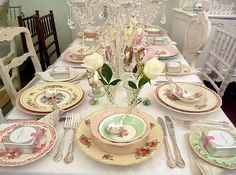A lovely set table for a time tea!