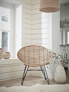 Flat Rattan Occasional Chair - Natural