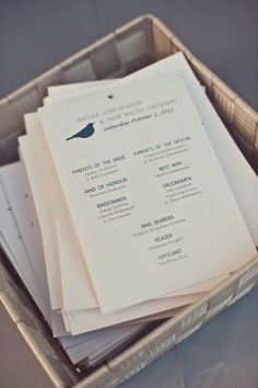simple modern but classic ceremony programs Wedding Bride, Wedding Blog, Wedding Events, Destination Wedding, Wedding Planning, Wedding Day, Wedding Ceremony, Wedding Stuff, Wedding Flowers
