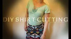 ✂️👚  DIY Shirt Cutting How To Tutorial no-sew ▶️ transform old t-shirt  ...
