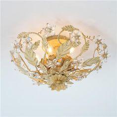 Crystal Flowers Ceiling Light