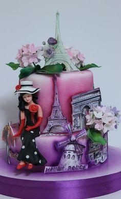 viorica's cakes: Tort Vintage Paris