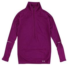 Womens Under Armour Run Seamless 12 Zip Aubergine XS ** You can find more details by visiting the image link.(This is an Amazon affiliate link)