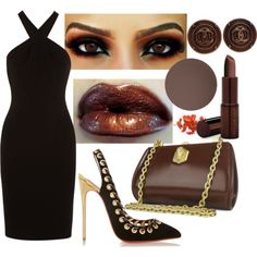 A fashion look from May 2015 featuring rouched dress, black high heel pumps and brown leather handbags. Browse and shop related looks. Diamond Face Shape, Skin Undertones, Black High Heel Pumps, Deep Autumn, Dark Winter, Brown Leather Handbags, Rock Chic, Fall Outfits, Christian Louboutin