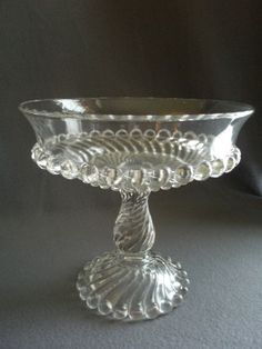 EAPG - McKee Brothers - High Standard Open Compote - Swirl & Ball Pattern