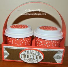 ~ ~ ~Jayne Stamps ~ ~ ~: Mini Coffee Cups and Holders