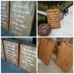 Wooden quote board for your isle in your wedding day