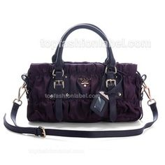 Prada Gaufre Nylon Top Handle Bag - Dark Purple  $179.00