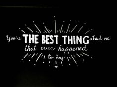 Handlettering  #kygo #lyrics #thebestthing
