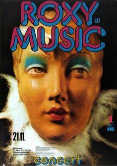 Roxy Music - Stranded 1973 - Poster Plakat Konzertposter