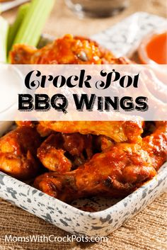 Football season is in full swing and I am always looking for something to feed my hubby during the games. The Chicken Wing recipe is a winner at my house! PrintCrockpot BBQ Chicken WingsPrep 15 minsCook 4 hoursTotal 4 hours, 15 minsAuthor AmandaYield 30 wings Ingredients3 pounds chicken wings (16 wings)salt and pepper to taste1...Read More Crockpot Dishes, Crock Pot Slow Cooker, Crock Pot Cooking, Slow Cooker Recipes, Crockpot Recipes, Cooking Recipes, Cooking Pork, Cooking Tips, Bbq Chicken Wings