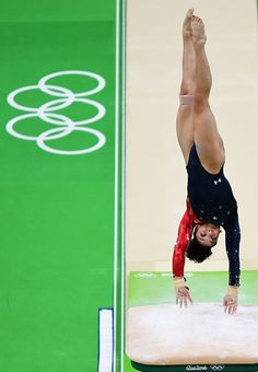 Lauren Hernandez of the United States competes on the vault during Women's qualification for Artistic Gymnastics on Day 2 of the…