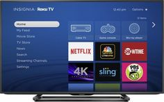 "Best Buy :Insignia - 50"" Class (49.5"" Diag.) - LED - 4K Ultra HD TV - Smart - Roku TV - Black for $330 - FS"