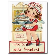 Image result for MAID + VINTAGE VALENTINE CARD