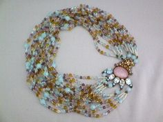 Vintage Glass Multi-Stranded Necklace, gorgeous!!!!!!