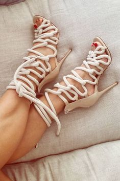 Rope Lace up Heels by monika_chiang