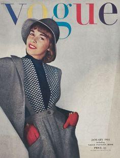 Vogue Magazine Cover Archive (Vogue.com UK) january 1944.
