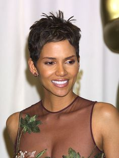 Halle Berry  Although she's gorgeous with any length hair, Halle Berry's short, sexy look from 2001 is still a style favorite. And since a close crop is virtually wash and go, it's perfect whether you're a movie star or supermom.