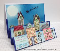 http://stampwithbrian.com/2014/12/07/three-things-i-like-maria-rodriguez-2/ Beautiful holiday homes stepper card made with watercolours.