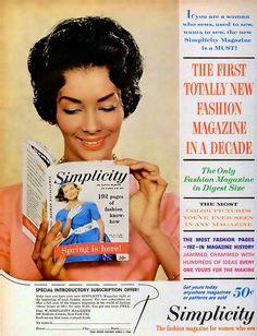 Simplicity Patterns Advertisement - Ebony Magazine, February, 1960, via Flickr.