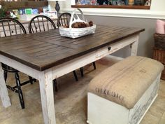 32 Best Distressed dining tables images | Dining room table ...