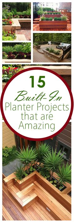 Planter projects, built in planter projects, easy gardening DIY, container gardening, popular pin, how to container garden, gardening hacks.