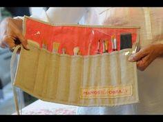 ▶ Porta Pinceles - Coser Etiquetas en Tela - Coser a Maquina - YouTube