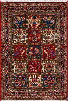 """Bakhtiari Persian Rug 3' 5"""" x 5' 1"""""""