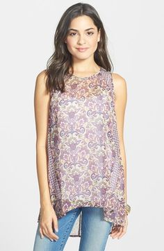 Chloe K Mix Print Tunic (Juniors) available at #Nordstrom