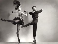 "Frank Ohman with Gloria Govrin in Balanchine's ""Western Symphony"""