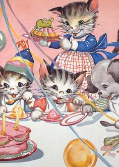 Cats' Birthday Party | Birthday Greeting Cards