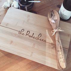 Beautiful personalized cutting board