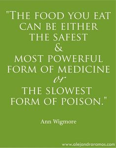 So true and so how I want to live. It's only food....fuel for the body!