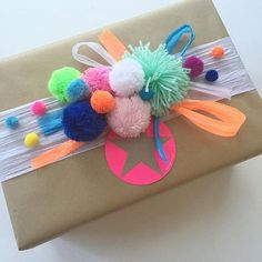 Gift Wrapping Ideas-Love everyones Christmas wrapping for Little Paper Lanes xmas wrapping comp on I. Present Wrapping, Creative Gift Wrapping, Creative Gifts, Paper Wrapping, Christmas Gift Wrapping, Christmas Crafts, Birthday Gift Wrapping, Christmas Pom Pom, Christmas Christmas